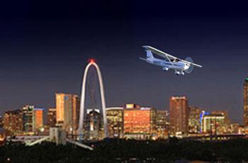 Cena y vuela sobre Dallas